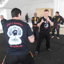 Sifu Lucas S. and SiGung David Z getting in some training