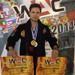 Sifu Lucas Sullivan taking home the Gold in both Hard style and Weapons Kata